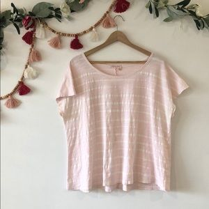 Fresh Produce Pink & White Striped T-shirt OS